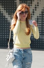 BELLA THORNE in Ripped Jeans Out and About in Hollywood