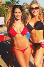 BELLA TWINS artying in Bikinis in Cabo San Lucas