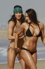 BELLA TWINS, BRIANNA and NICOLE Garcia-Colace in Bikini on the Beach Los Angeles