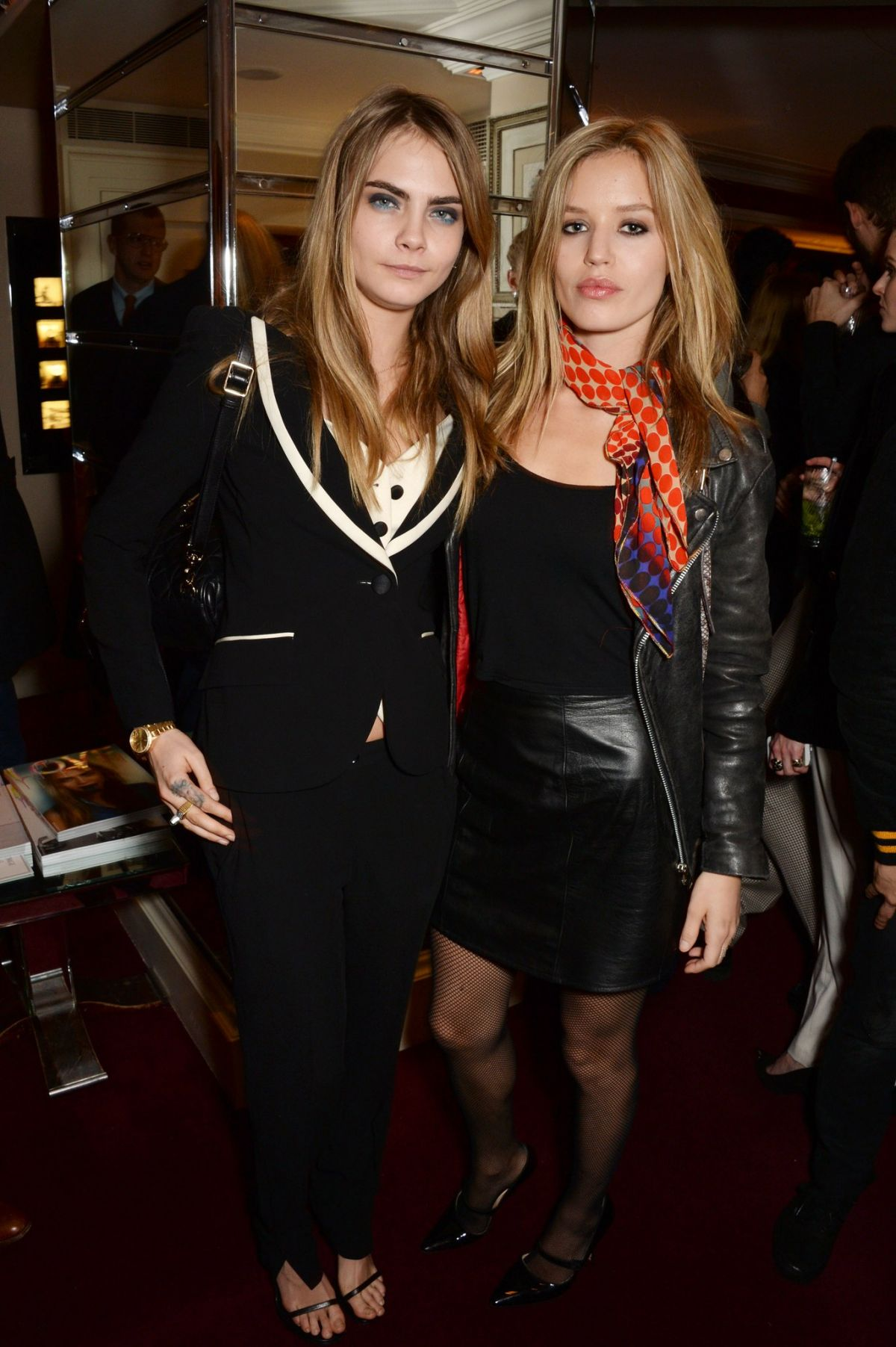 Cara Delevingne supported by Kendall and Kylie Jenner at