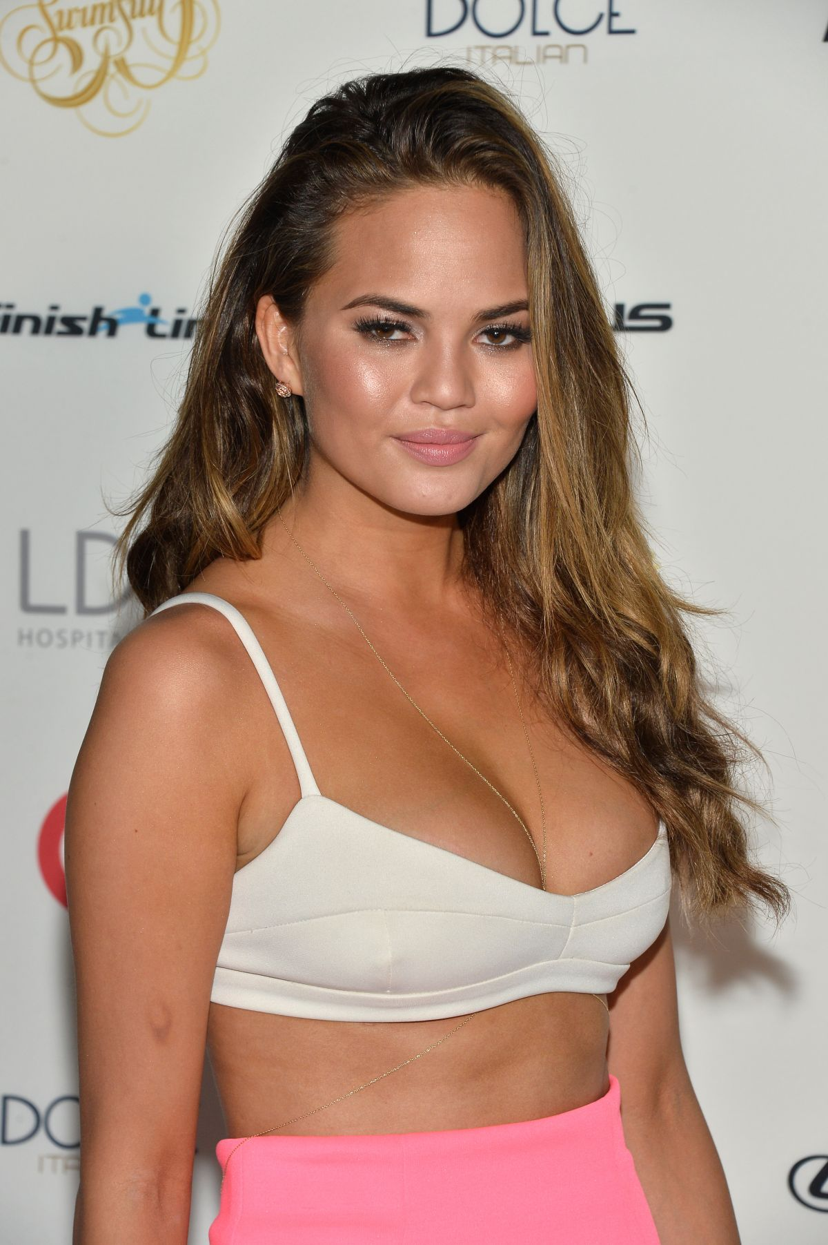 Chrissy Teigen At Sports Illustrated Swimsuit South Beach
