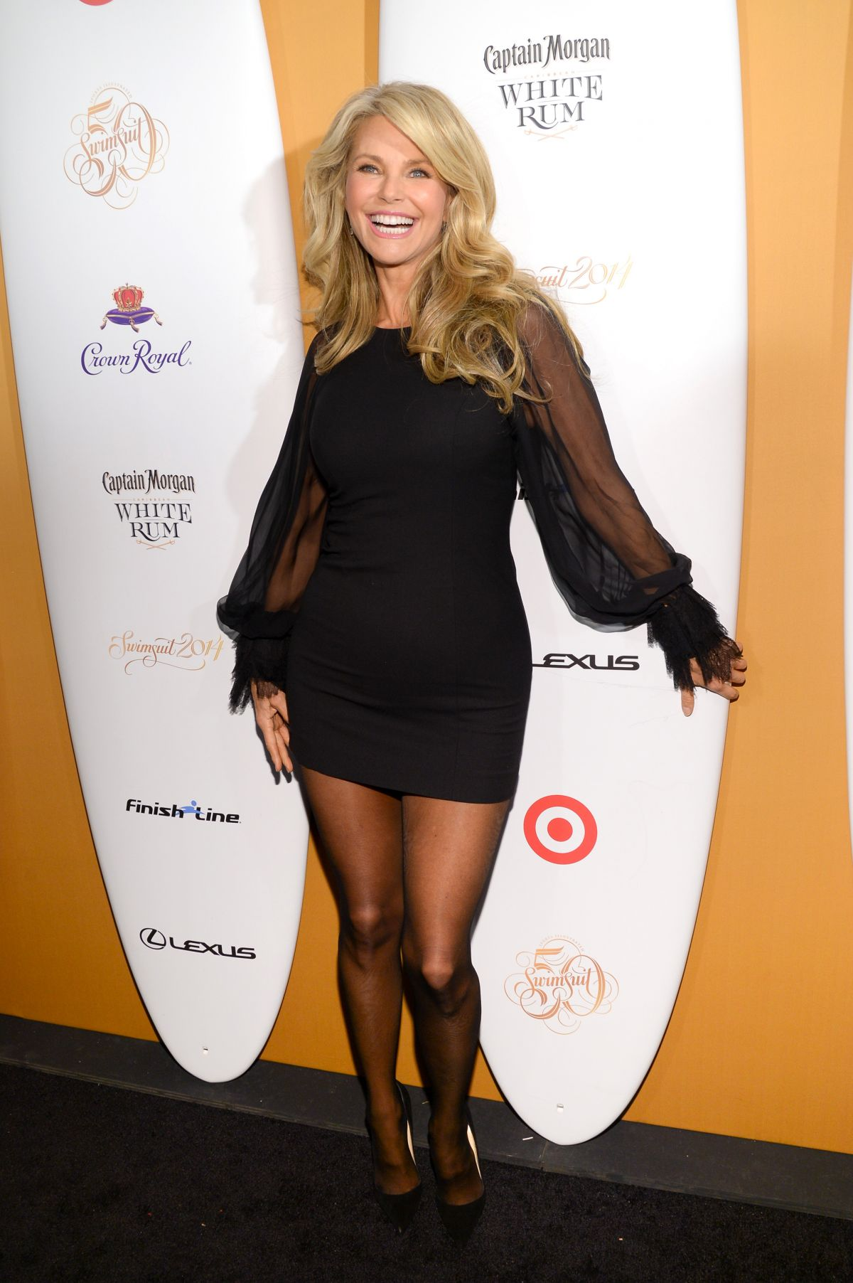 CHRISTIE BRINKLEY at Sports Illustrated Swimsuit 50 Years of Swim Celebration in New York
