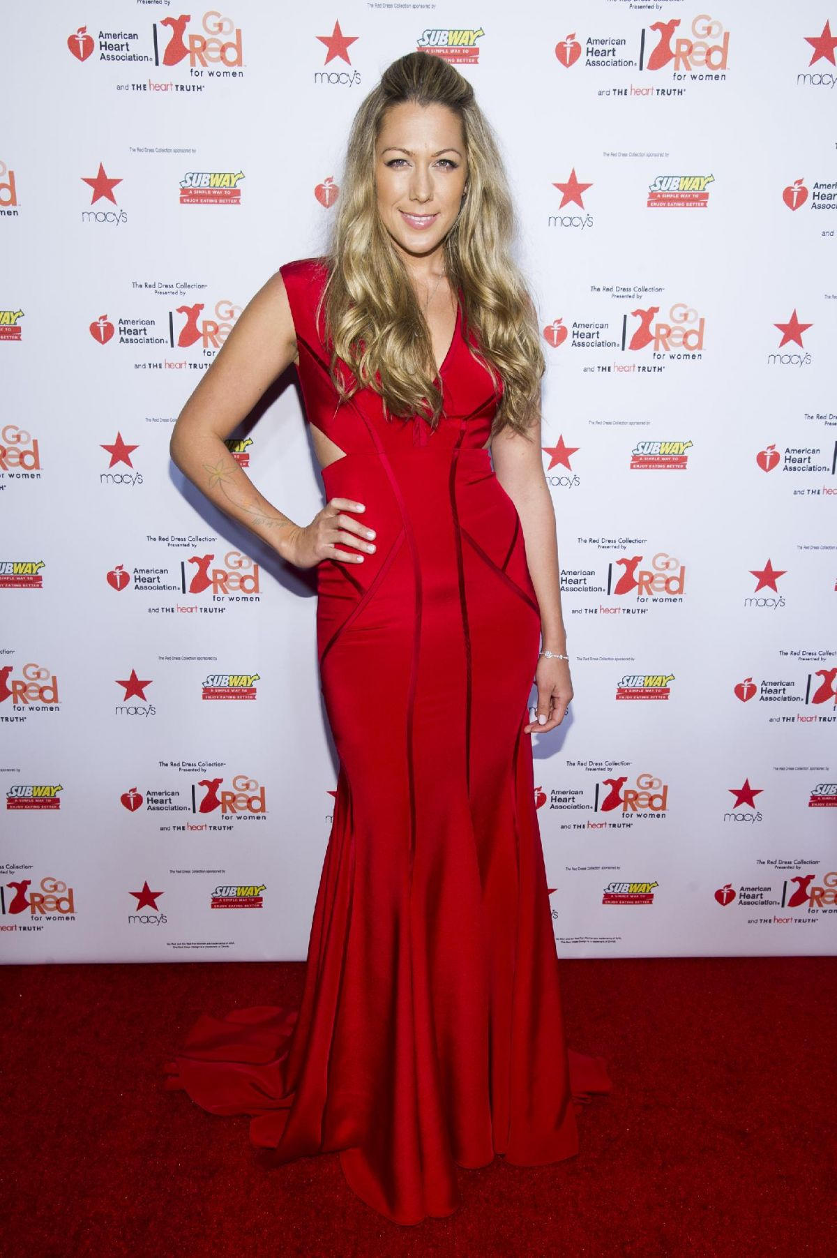 COLBIE CAILLAT at Go Red for Women, The Heart Truth Fashion Show in New York