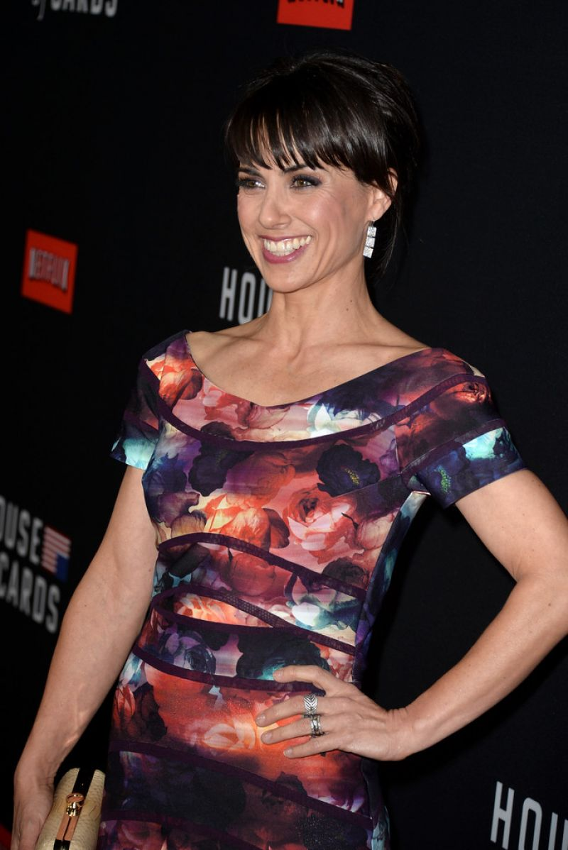 CONSTANCE ZIMMER at House of Cards Season 2 Screening in Los Angeles