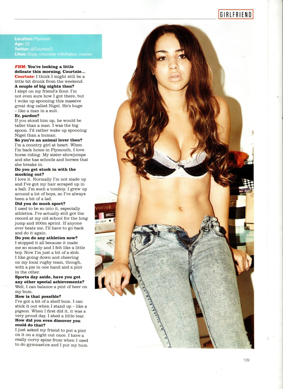COURTNIE QUINLAN in FHM Magazine, March 2014 Issue
