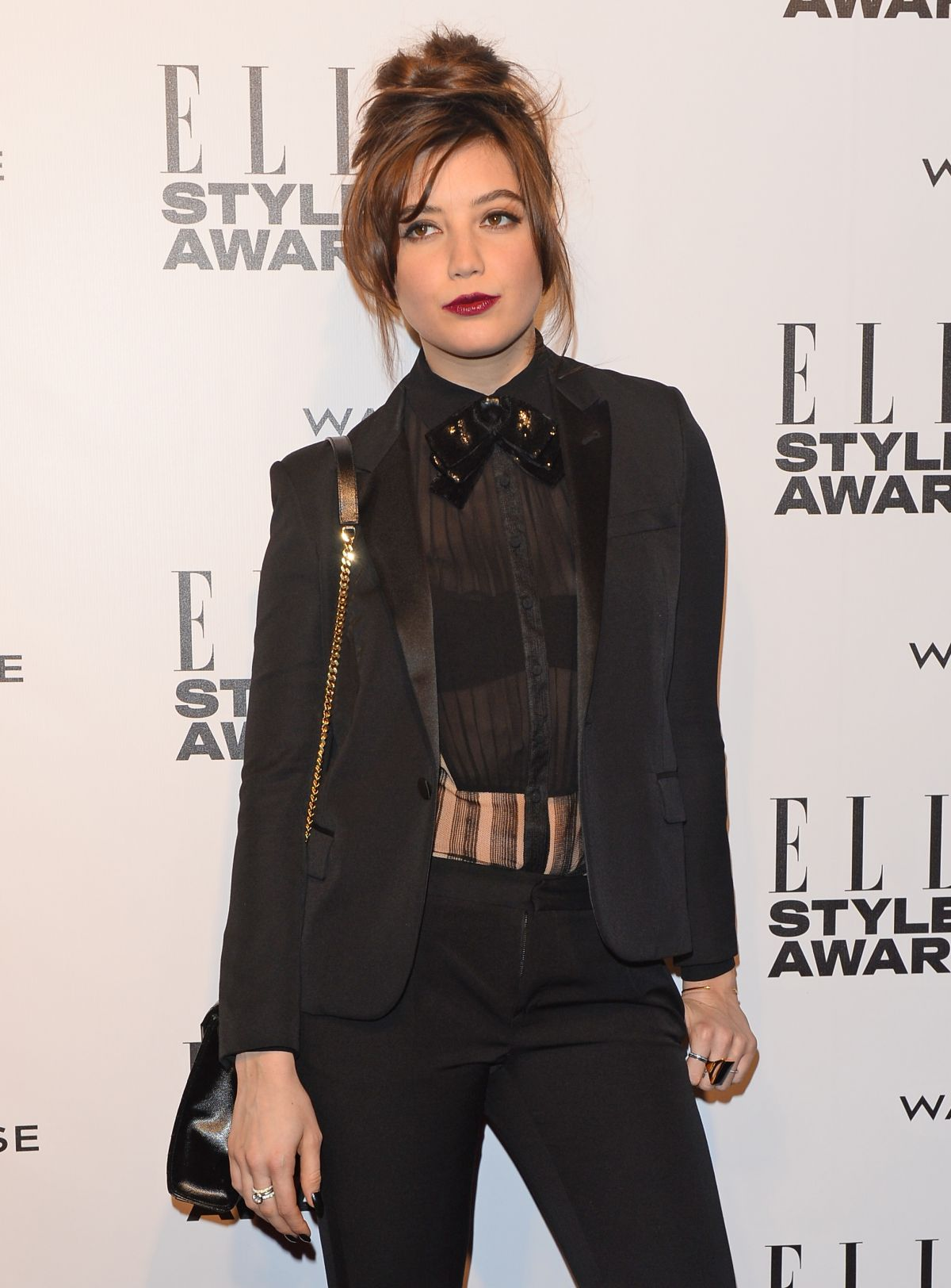 DAISY LOWE at 2014 Elle Style Awards in London