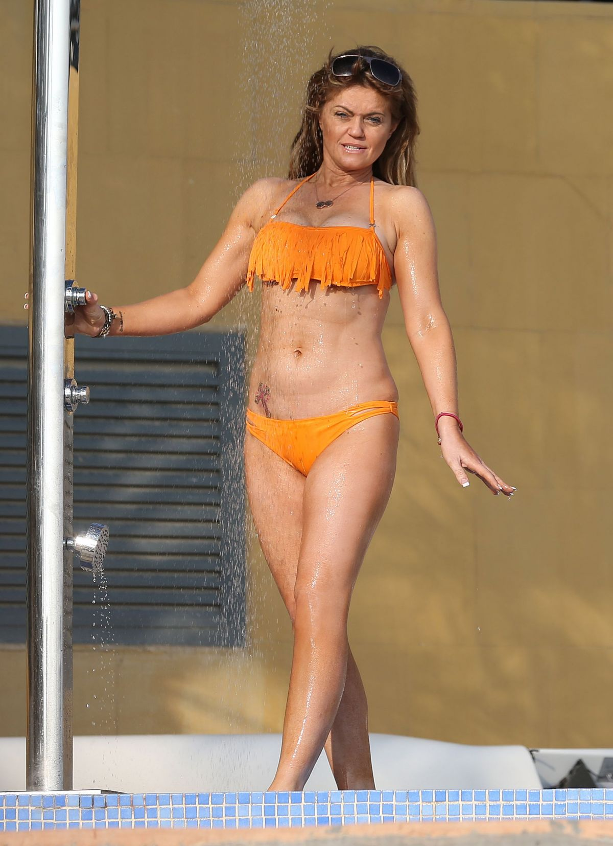 DANIELLA WESTBROOK in Bikini at a Beach in Dubai