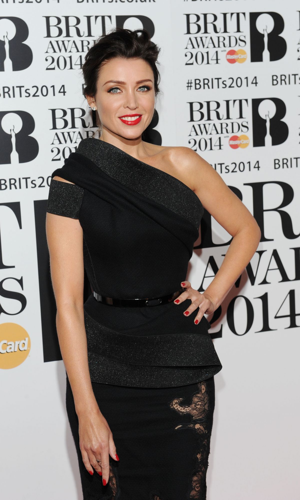 DANNI MINOGUE at 2014 Brit Awards in London