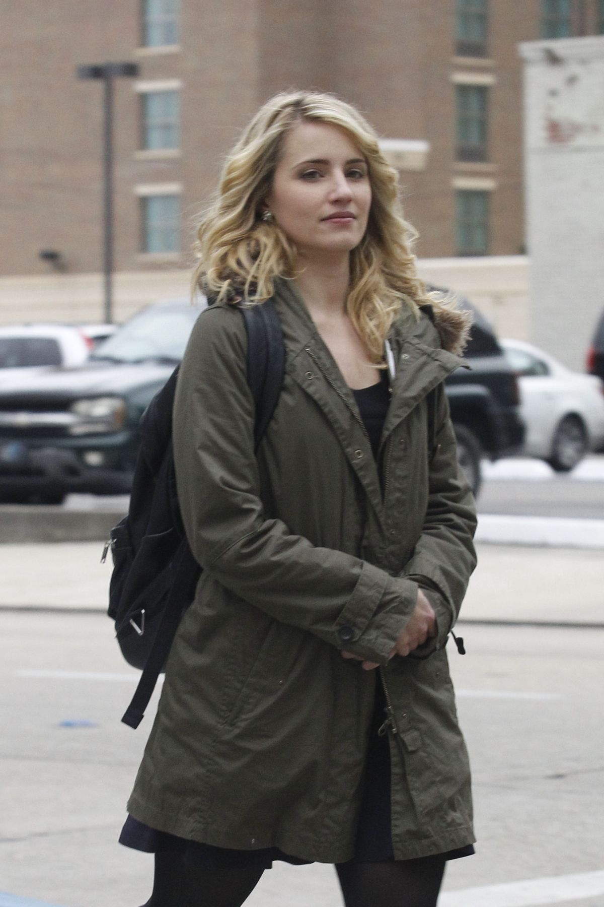 DIANNA AGRON on the Set of Zipper in Baton Rouge