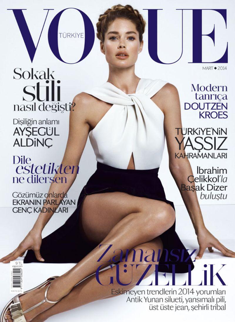 DOUTZEN KROES in Vogue Magazine, Turkey March 2014 Issue