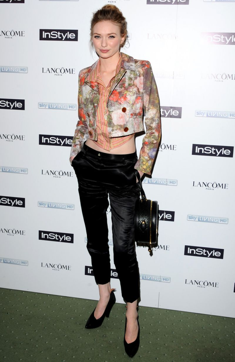 ELEANOR TOMLINSON at Instyle Magazine's the Best of British Talent Pre-Bafta Party in London