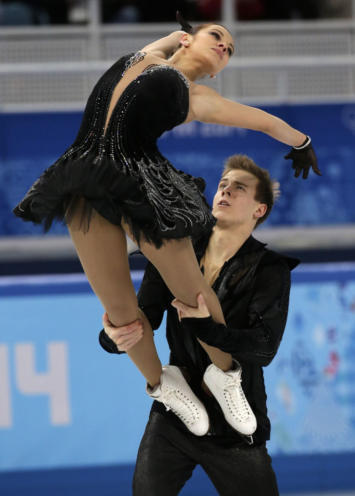 ELENA ILINYKH and Nikita Katsalapov at 2014 Winter Olympics in Sochi