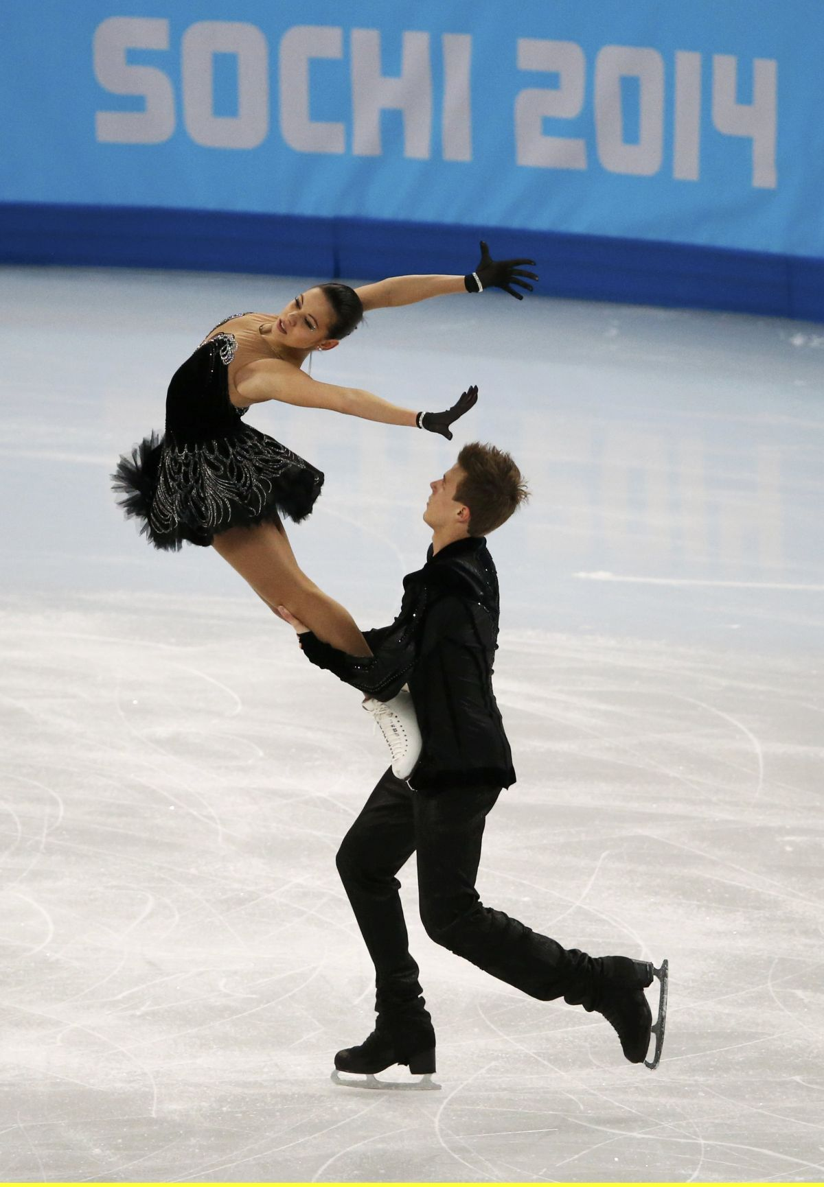 ELENA ILINYKH and Nikita Katsalapov at 2014 Winter Olympics in SochiIlinykh Katsalapov