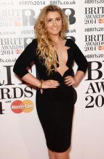 ELLA HENDERSON at 2014 Brit Awards in London