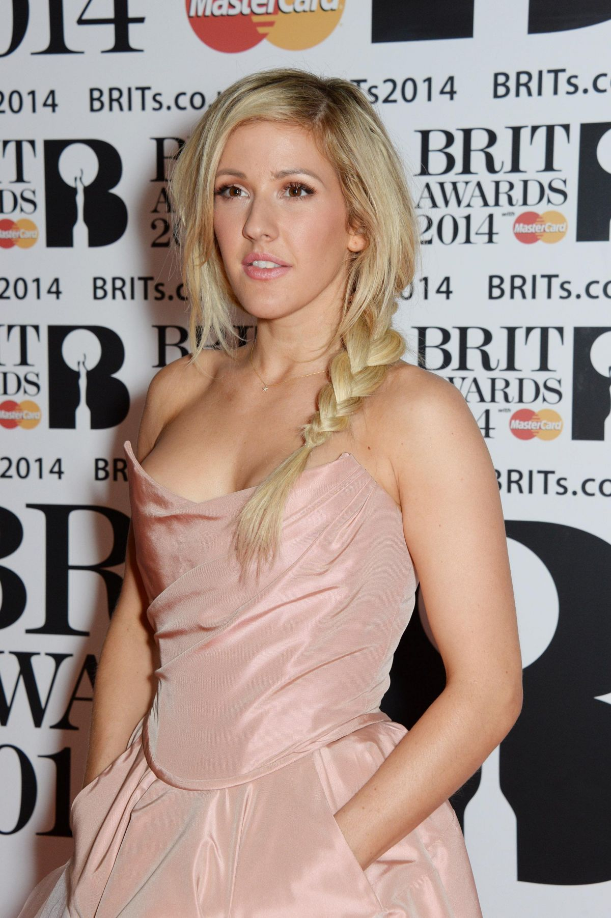 ELLIE GOULDING at 2014 Brit Awards in London