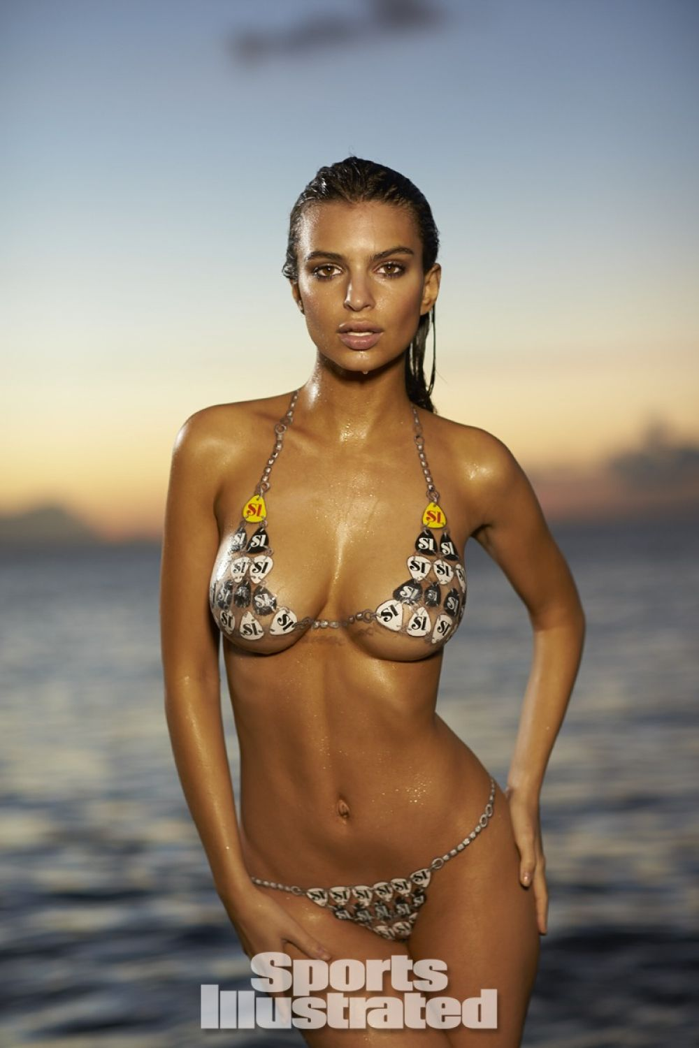 Bathing suit on models painted