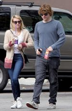 EMMA ROBERTS and Evan Peters Out in Los Angeles