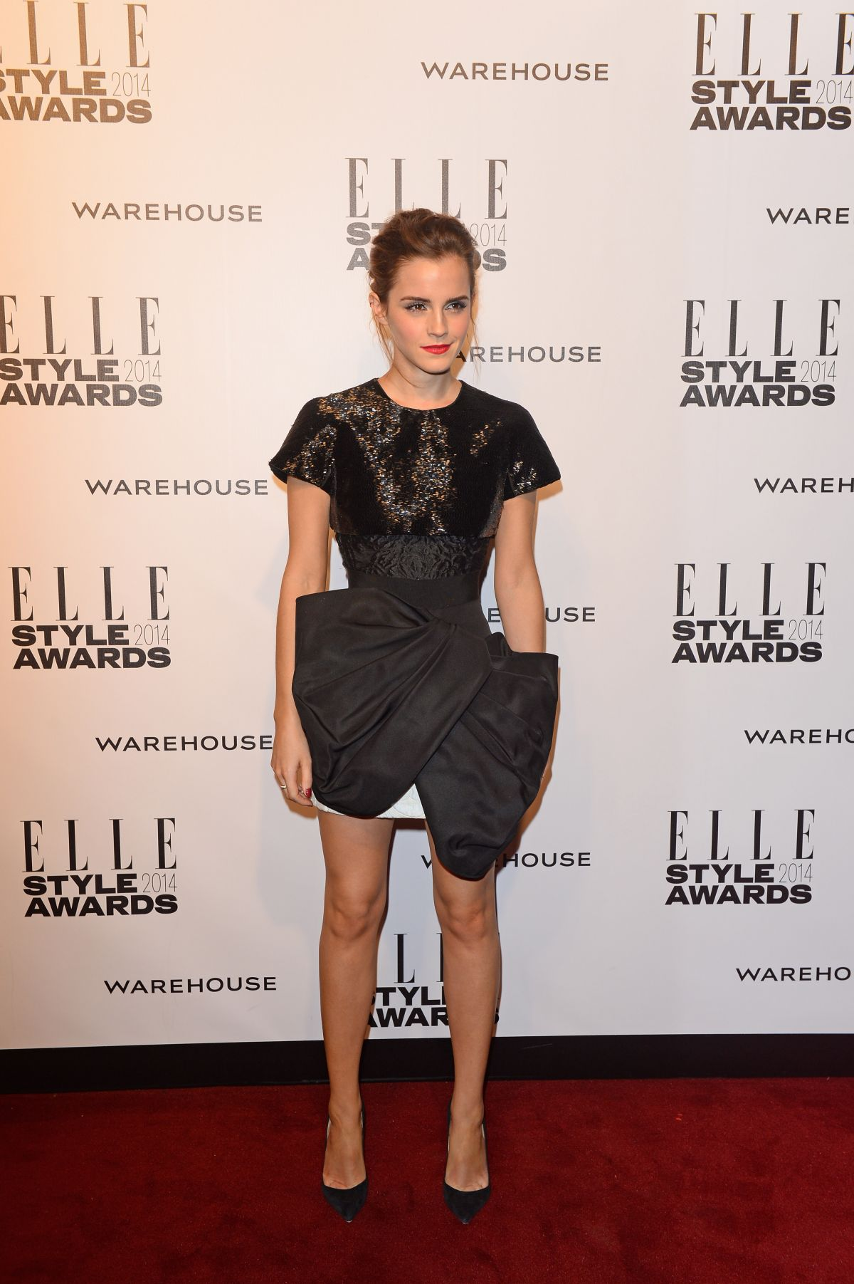 EMMA WATSON at 2014 Elle Style Awards in London