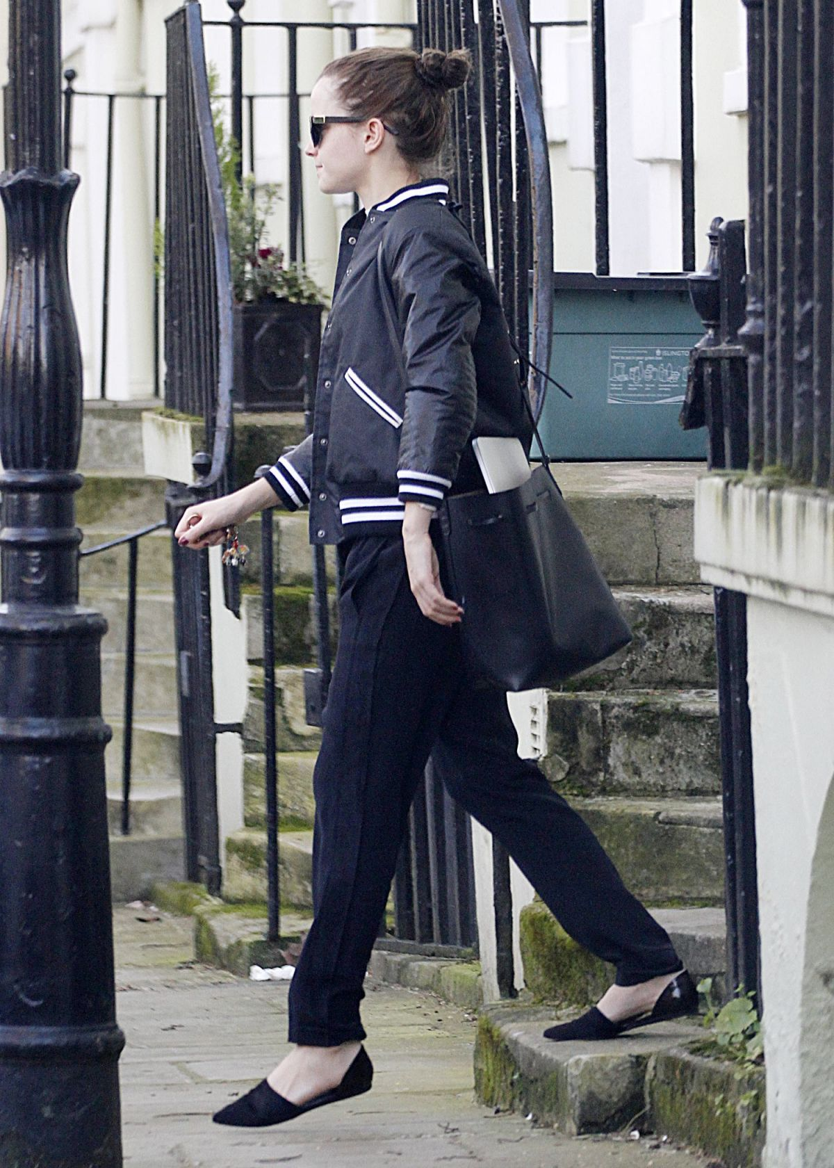 EMMA WATSON Leaves Her Home in London