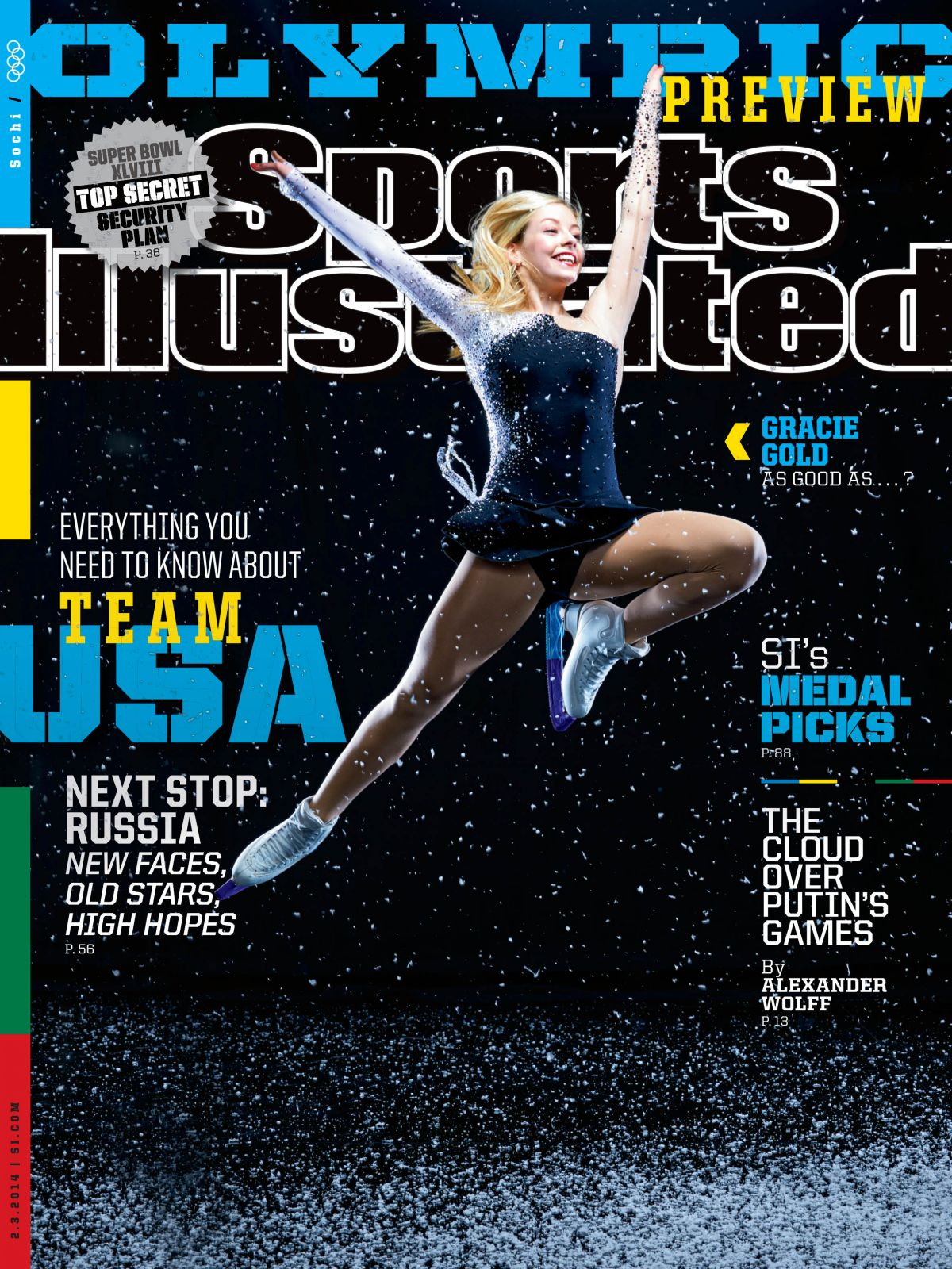 GRACIE GOLD on the Cover of Sports Illustrated Magazine, February 2014 Issue