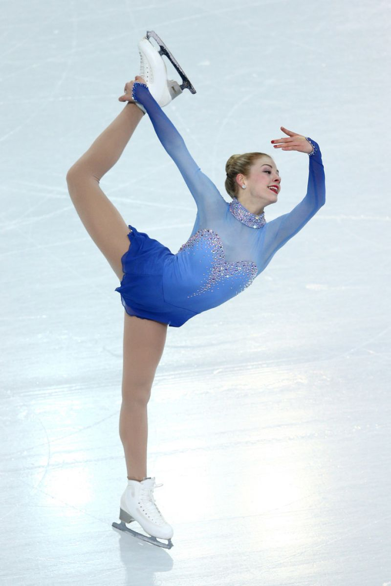GRACIE GOLDat Team Ladies Free Skating at 2014 Winter Olympics in Sochi