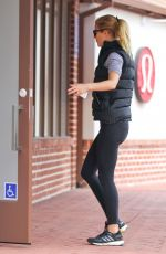 GWYNETH PALTROW in Tights Arrives at Tracy Anderson Gym in Brentwood