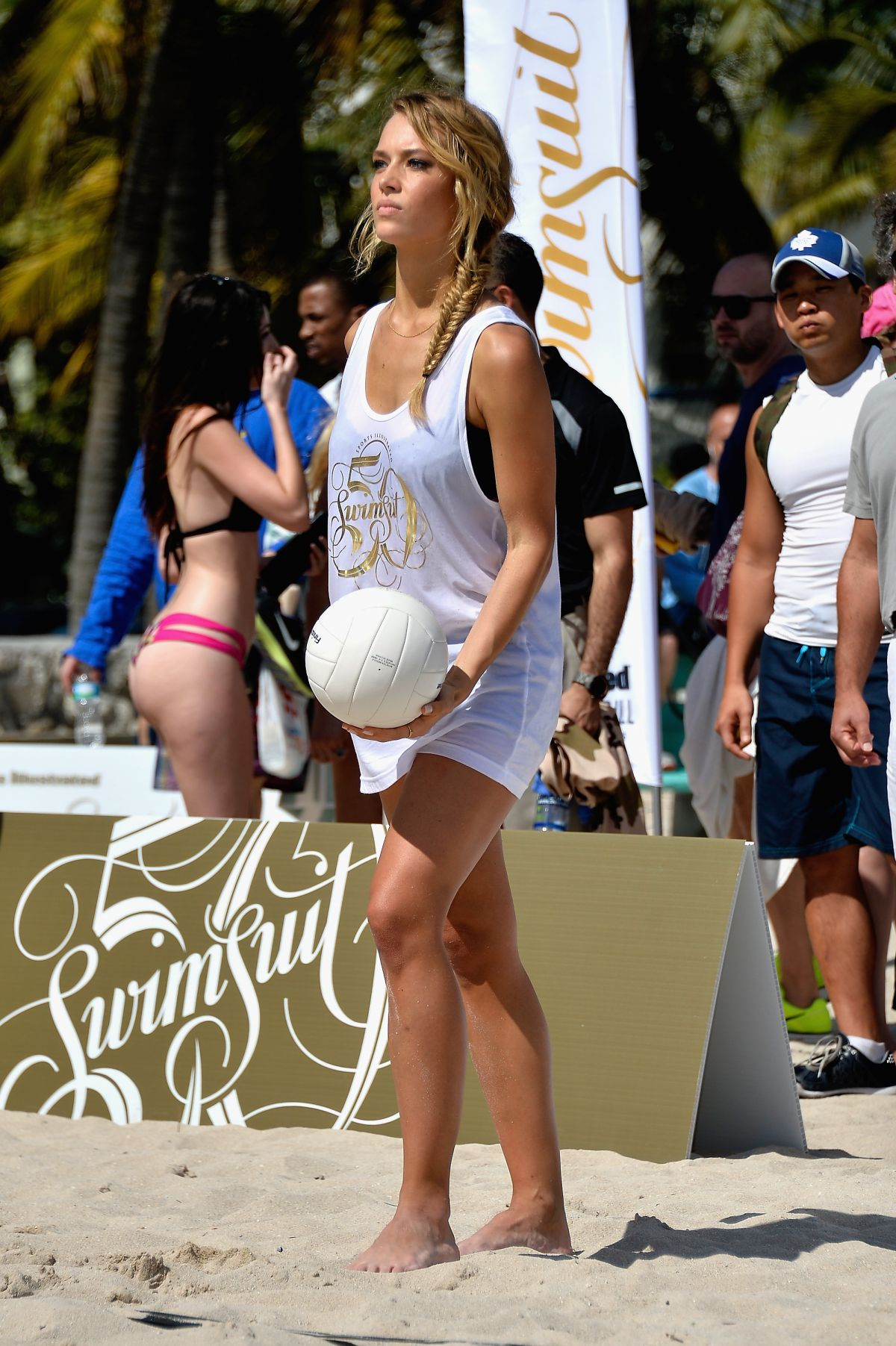 HANNAH FERGUSON at SI Swimsuit Beach Volleyball Tournament in Miami