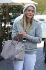HILARY DUFF in Tight Jeans at Cecconi