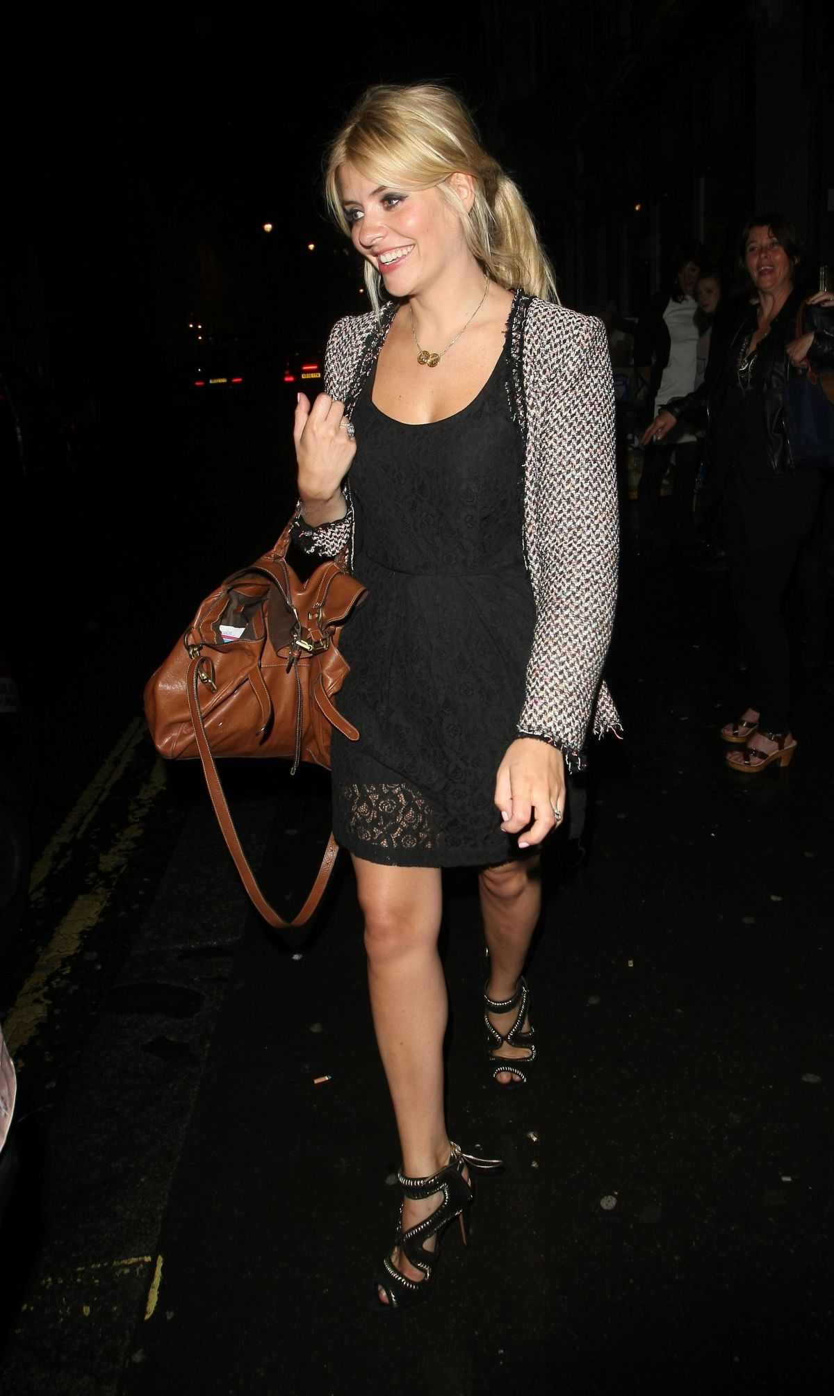 HOLLY WILLOGHBY Leaves a Night Club in London