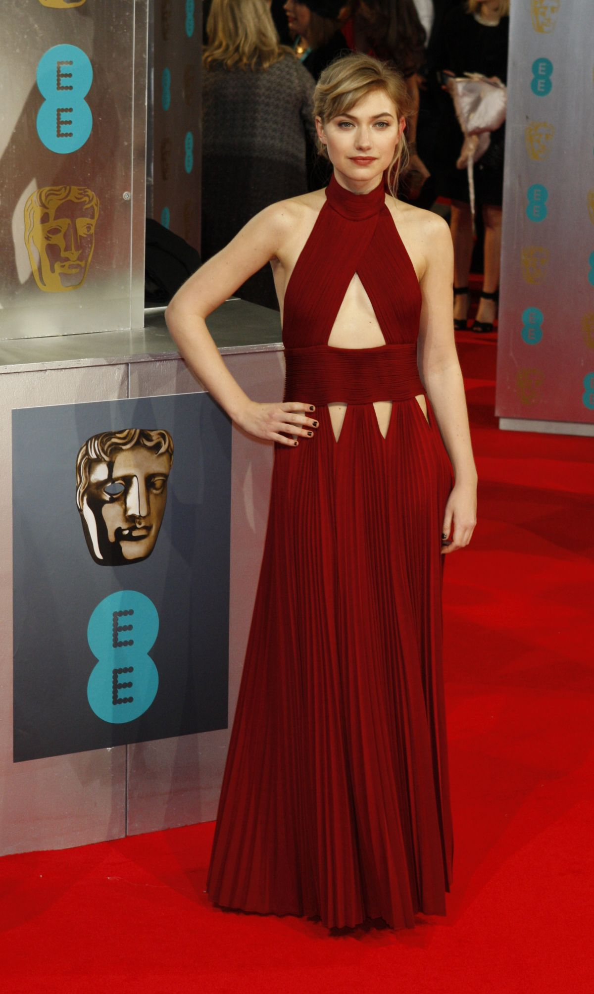 IMOGEN POOTS at 2014 BAFTA Awards in London