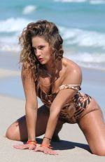 JENNIFER NICOLE LEE at a Photshoot on the Beach in Miami