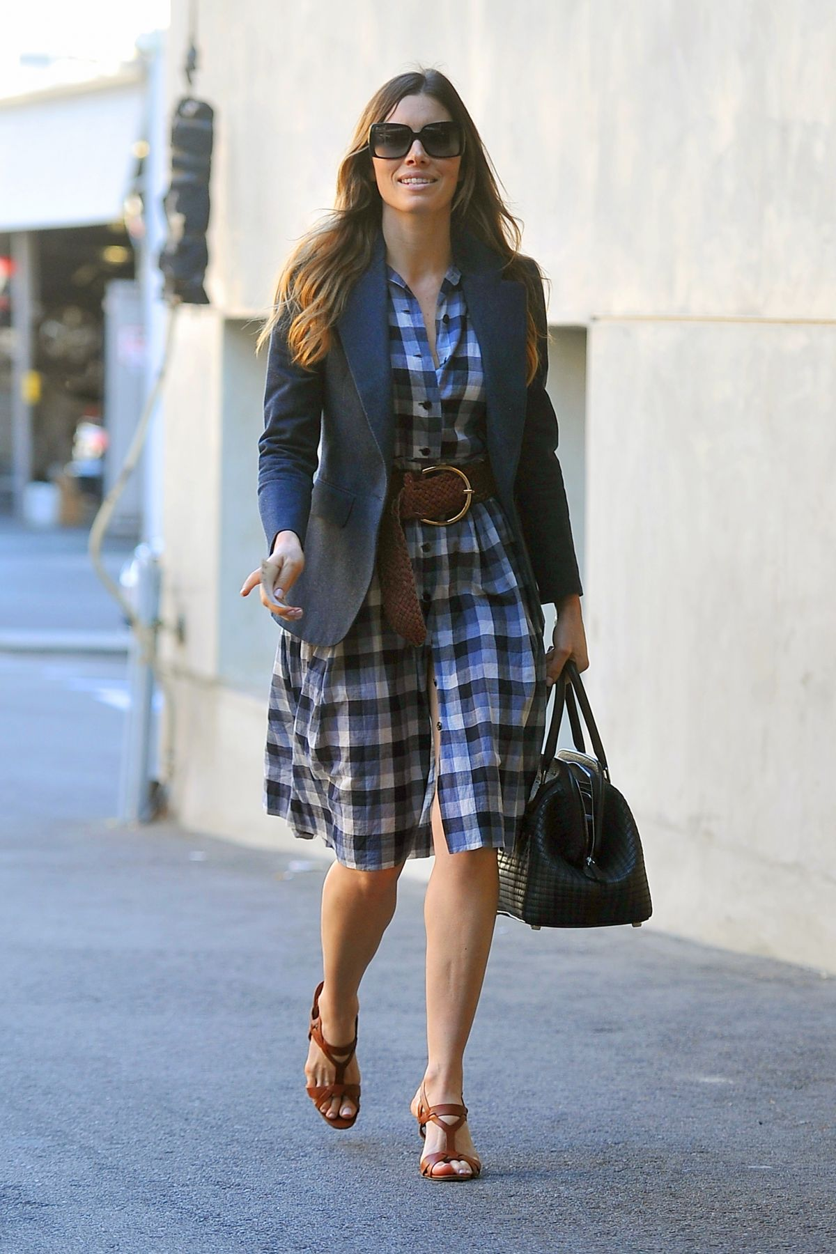 JESSICA BIEL Out and About in Santa Monica