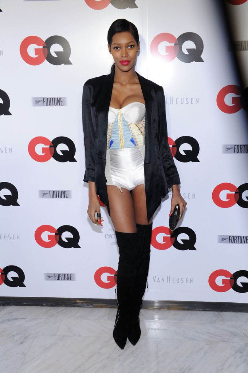 JESSICA WHITE at GQ 2014 Super Bowl Party in New York