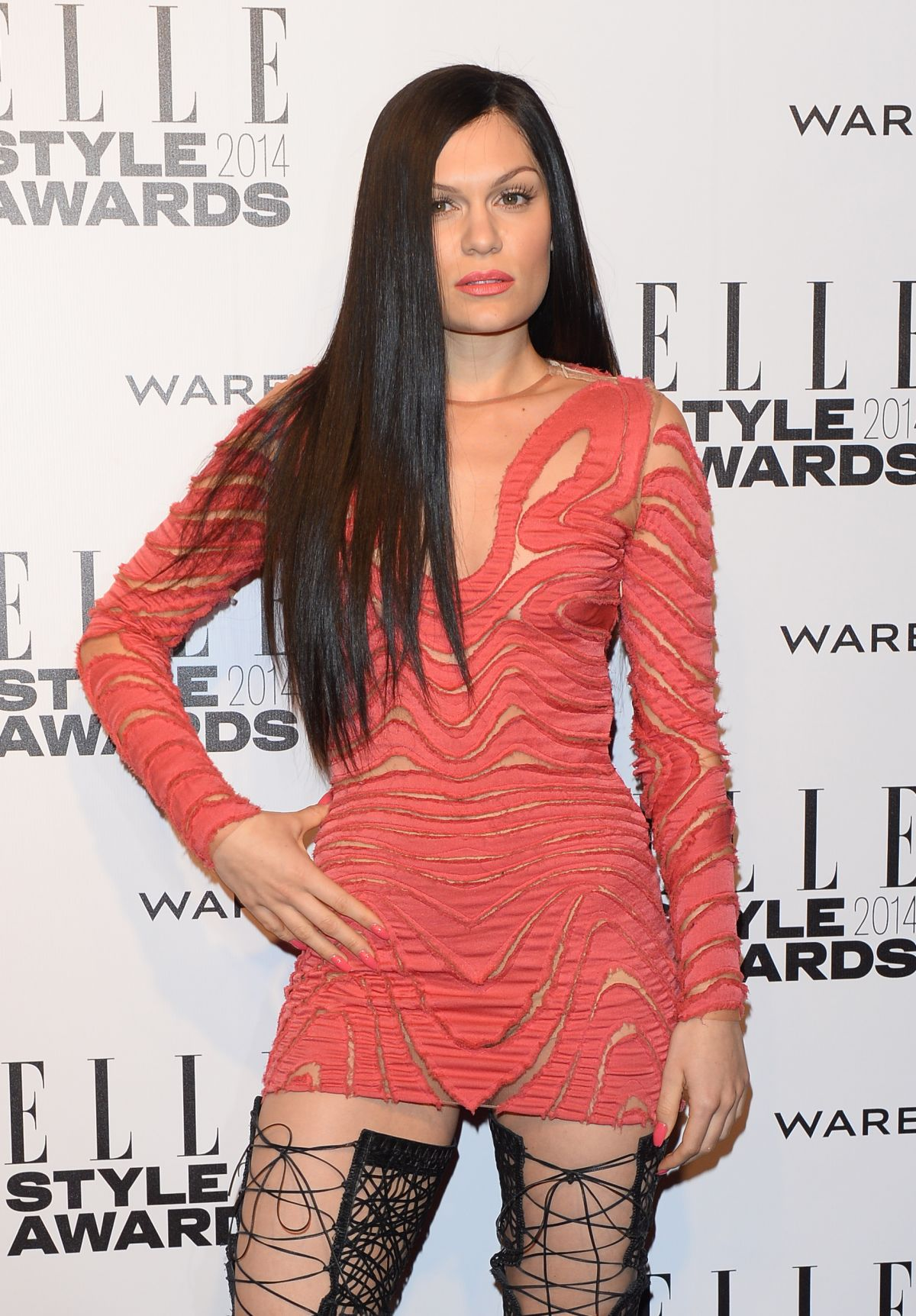 JESSIE J at 2014 Elle Style Awards in London