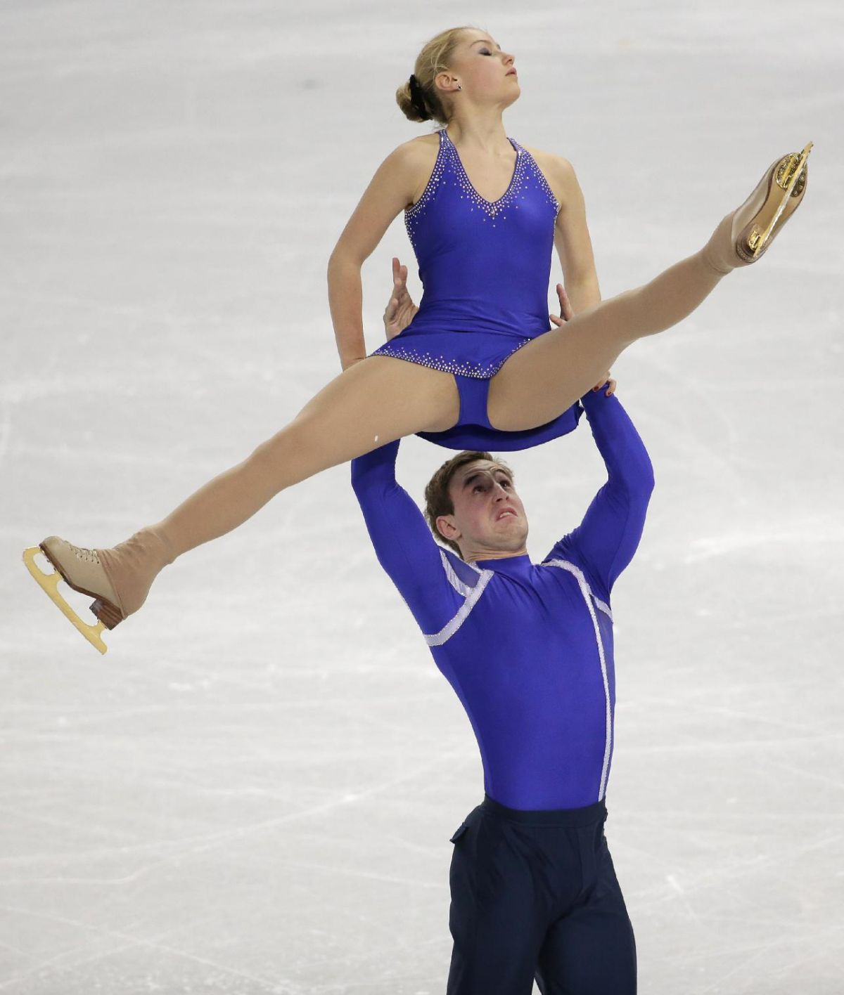 JULIA LAVRENTIEVA and Yuri Rudyk at 2014 Winter Olympics in Sochi