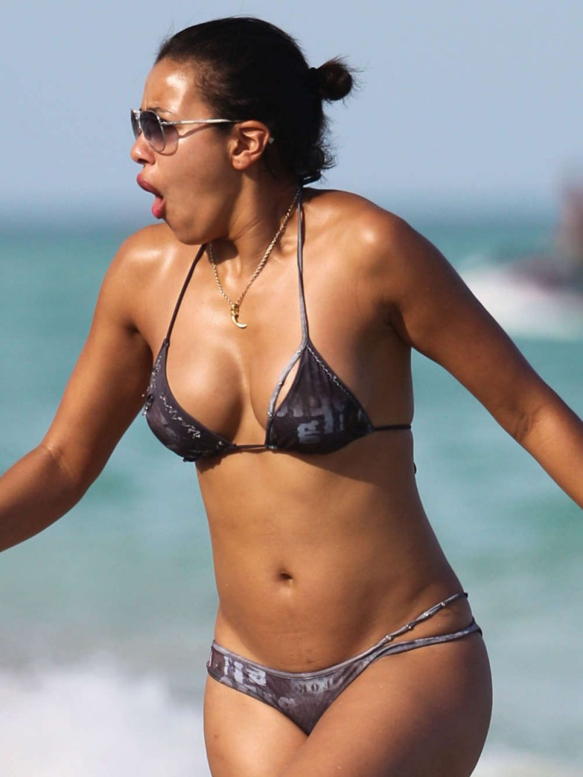 JULISSA BERMUDEZ in Bikini at a Beach in Miami