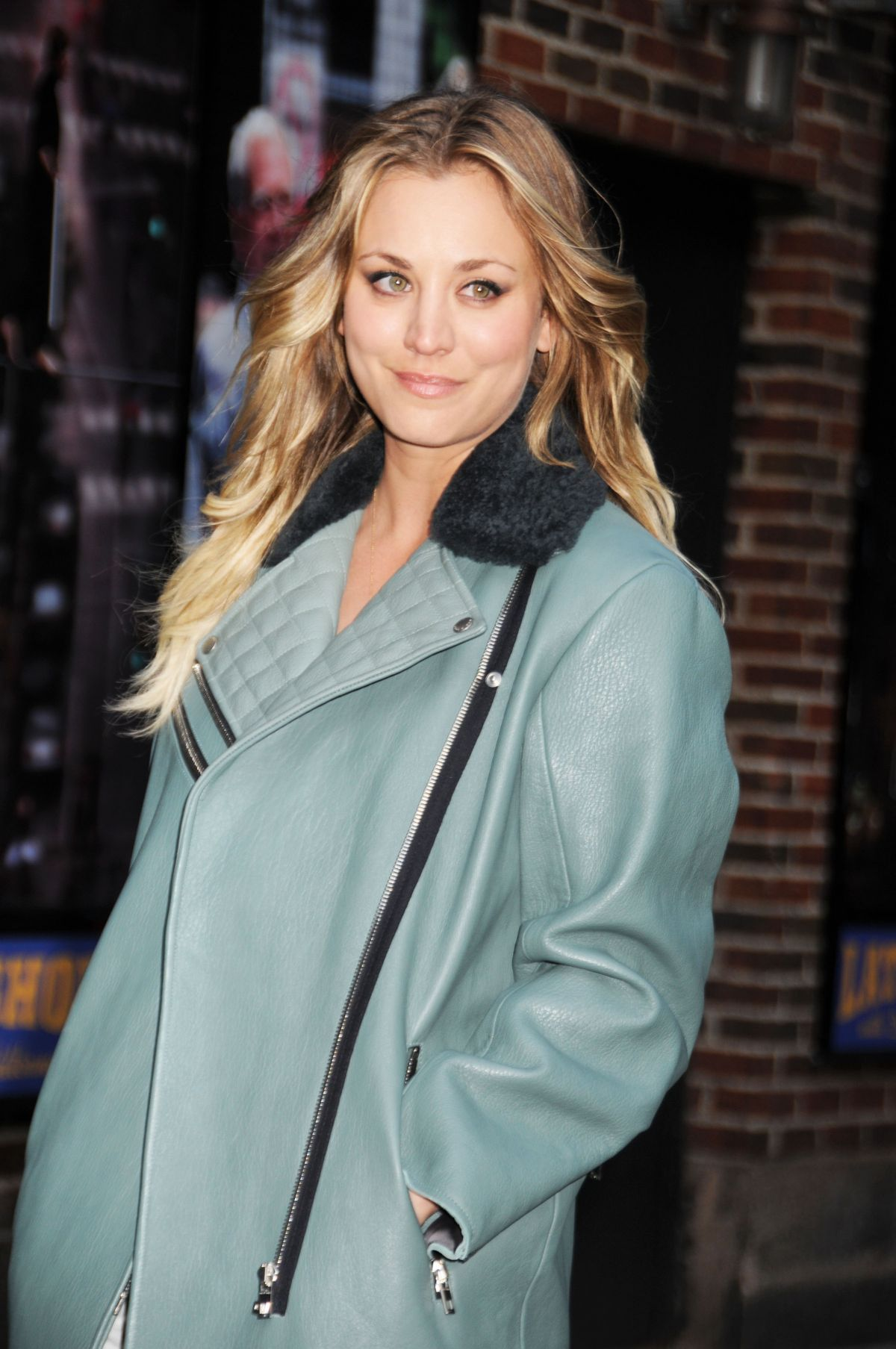 KALEY CUOCO Arrives at The Late Show with David Letterman in New York