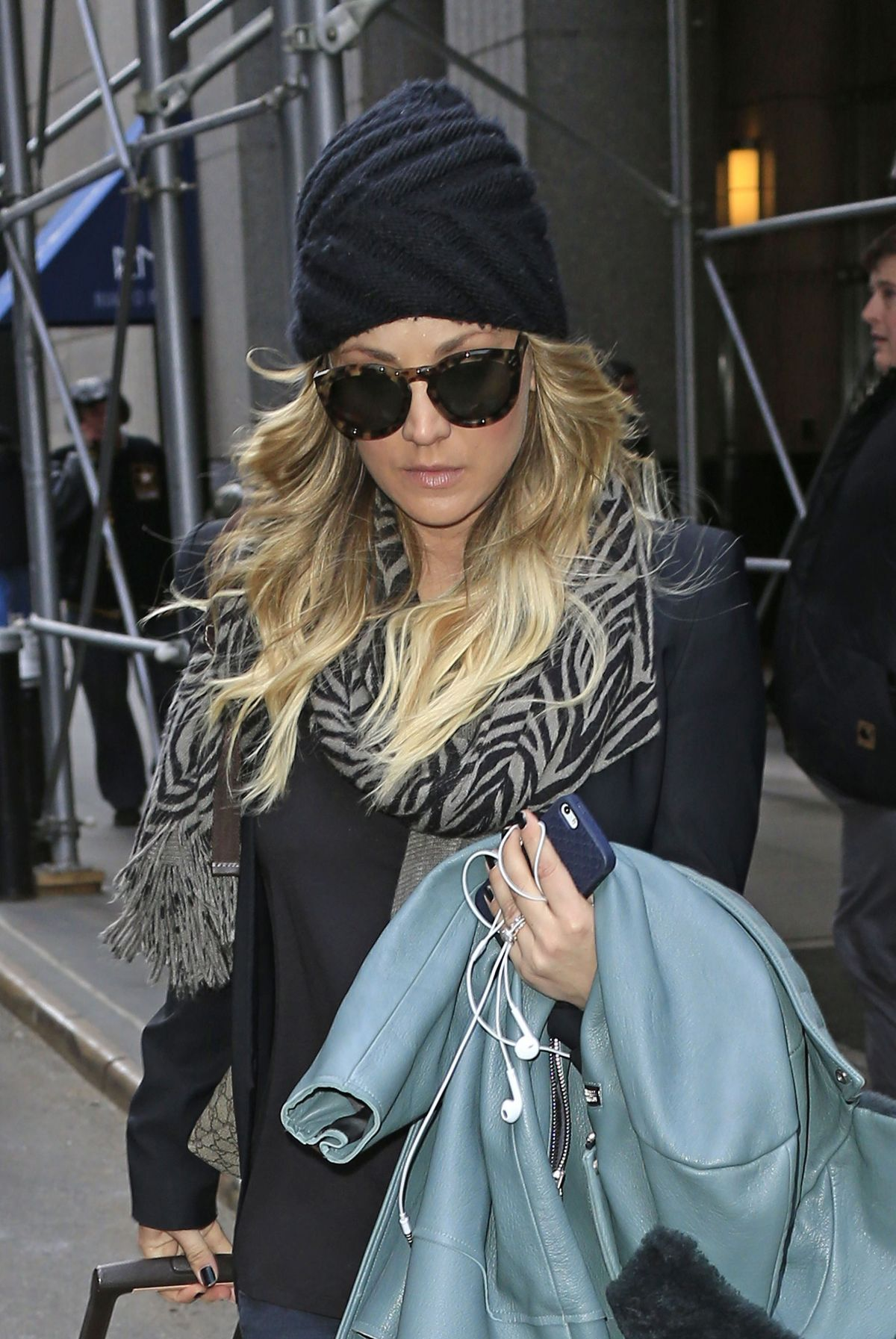 KALEY CUOCO Leaves Her Hotel in New York