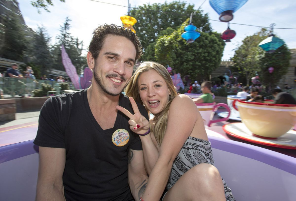 KALEY CUOO and Ryan Sweeting in Disneyland