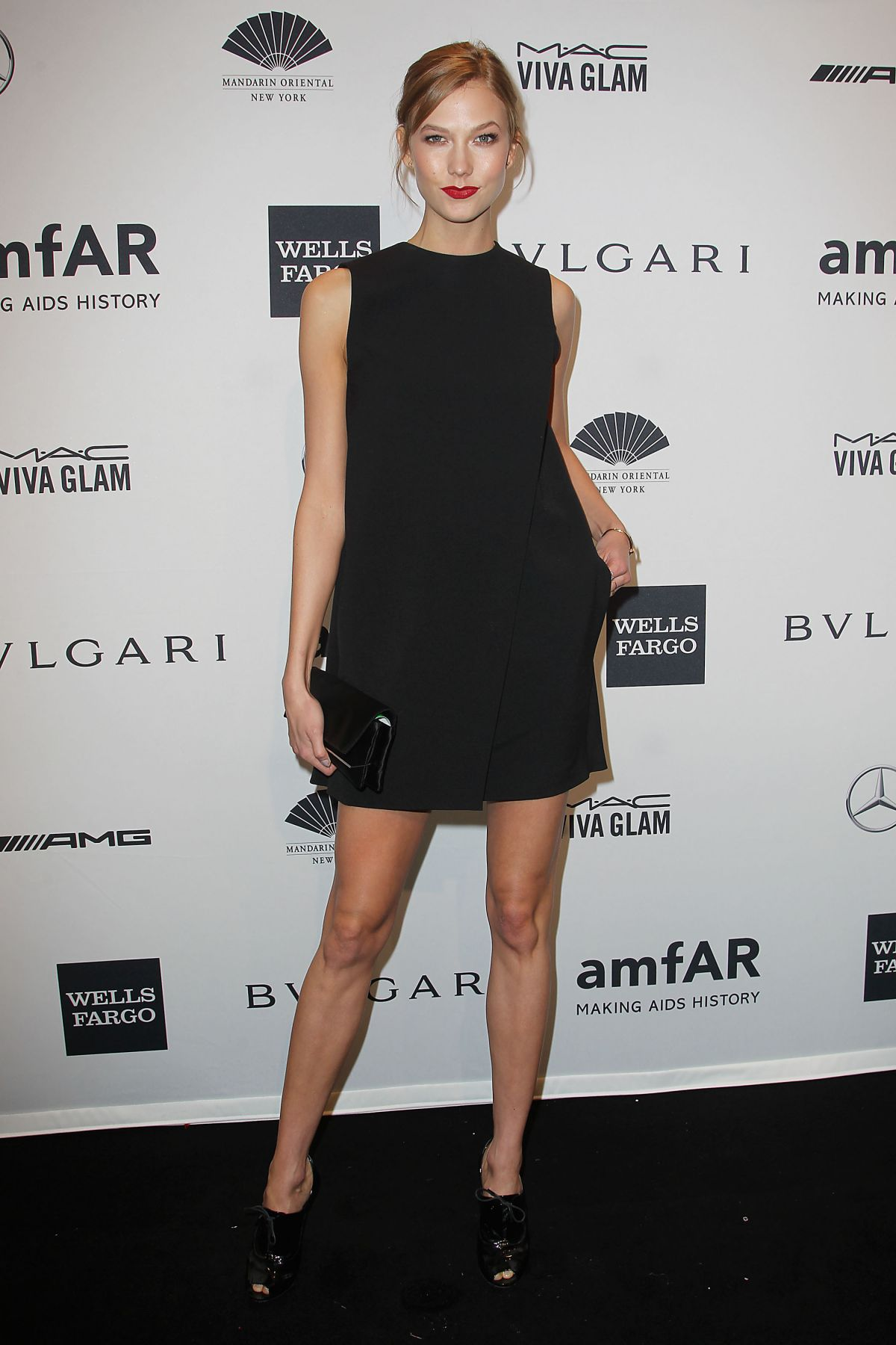 KARLIE KLOSS at 2014 AMFAR Gala in New York
