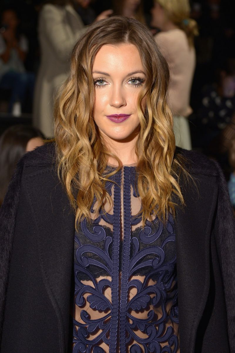 KATIE CASSIDY at Lela Rose Fall/Winter 2014 Fashion Show in New York