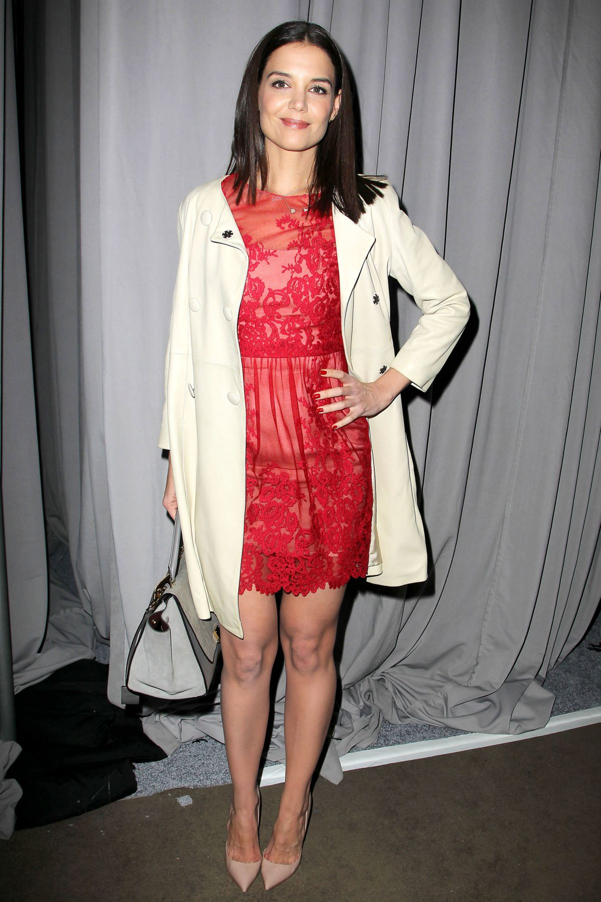 katie holmes at marchesa fashion show in new york hawtcelebs