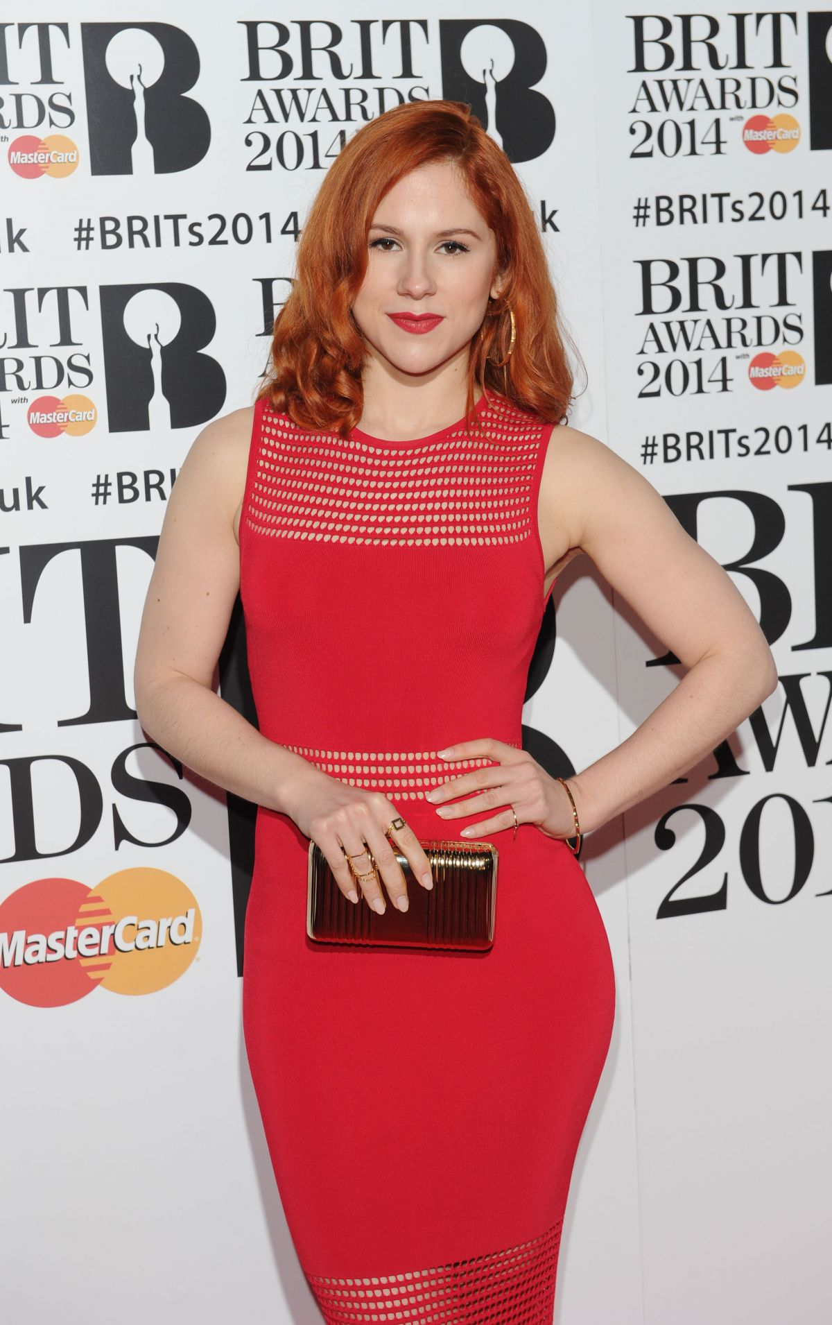 KATY B at 2014 Brit Awards in London