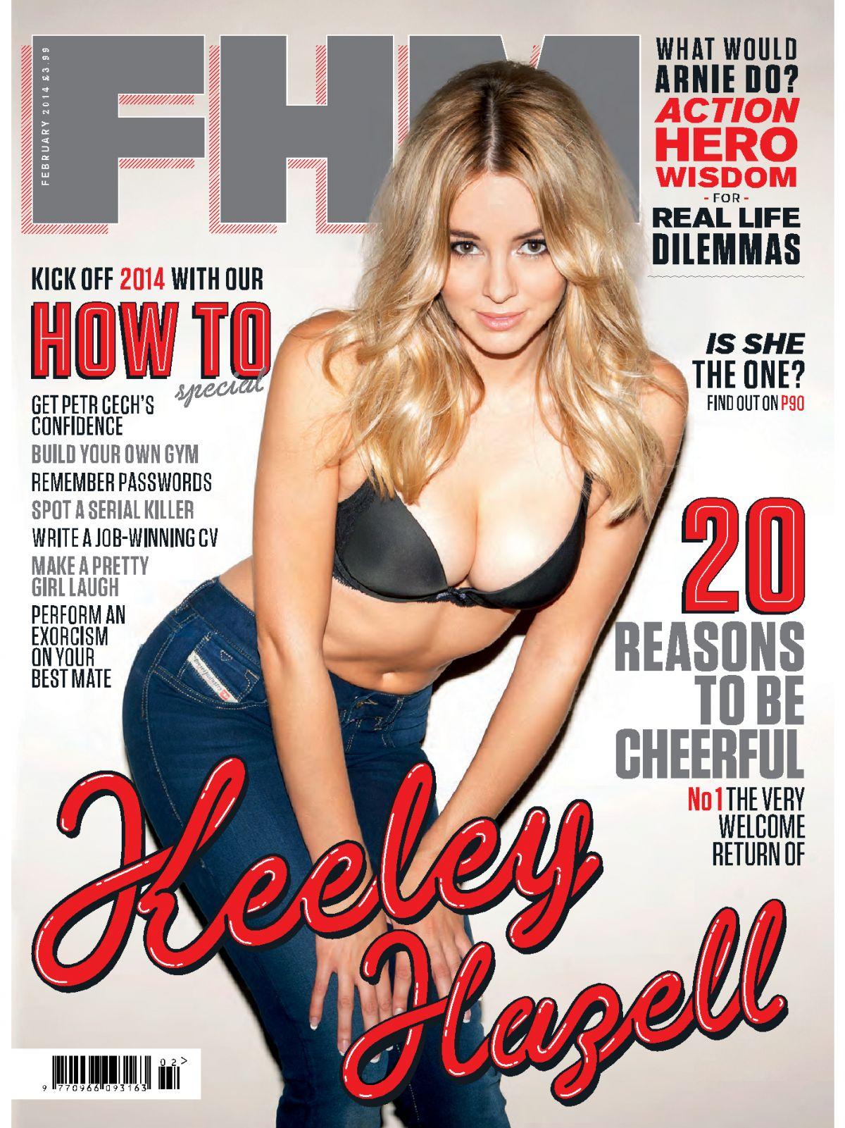KEELEY HAZELL in FHM Magazine, UK February 2014 Issue