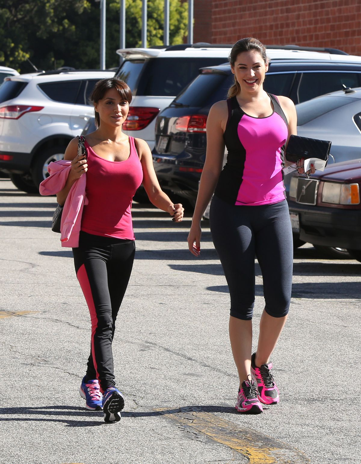 Kelly Brook At A Kickboxing Class In Los Angeles