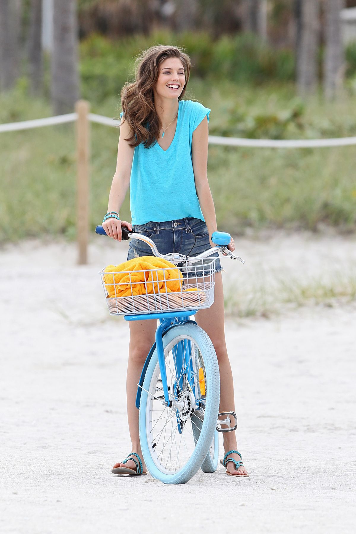 KENDRA SPEARS at a Photoshoot on the Beach in Miami