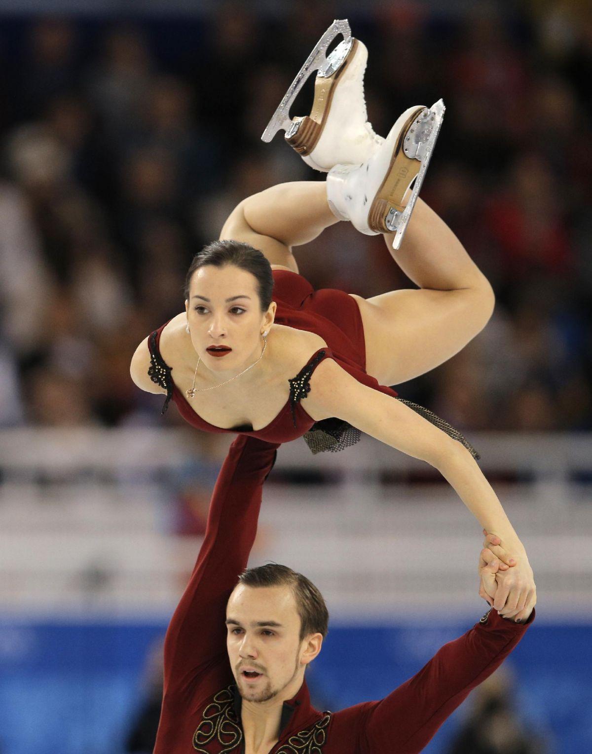 KSENIA STOLBOVA and Fedor Klimov at 2014 Winter Olympics in Sochi