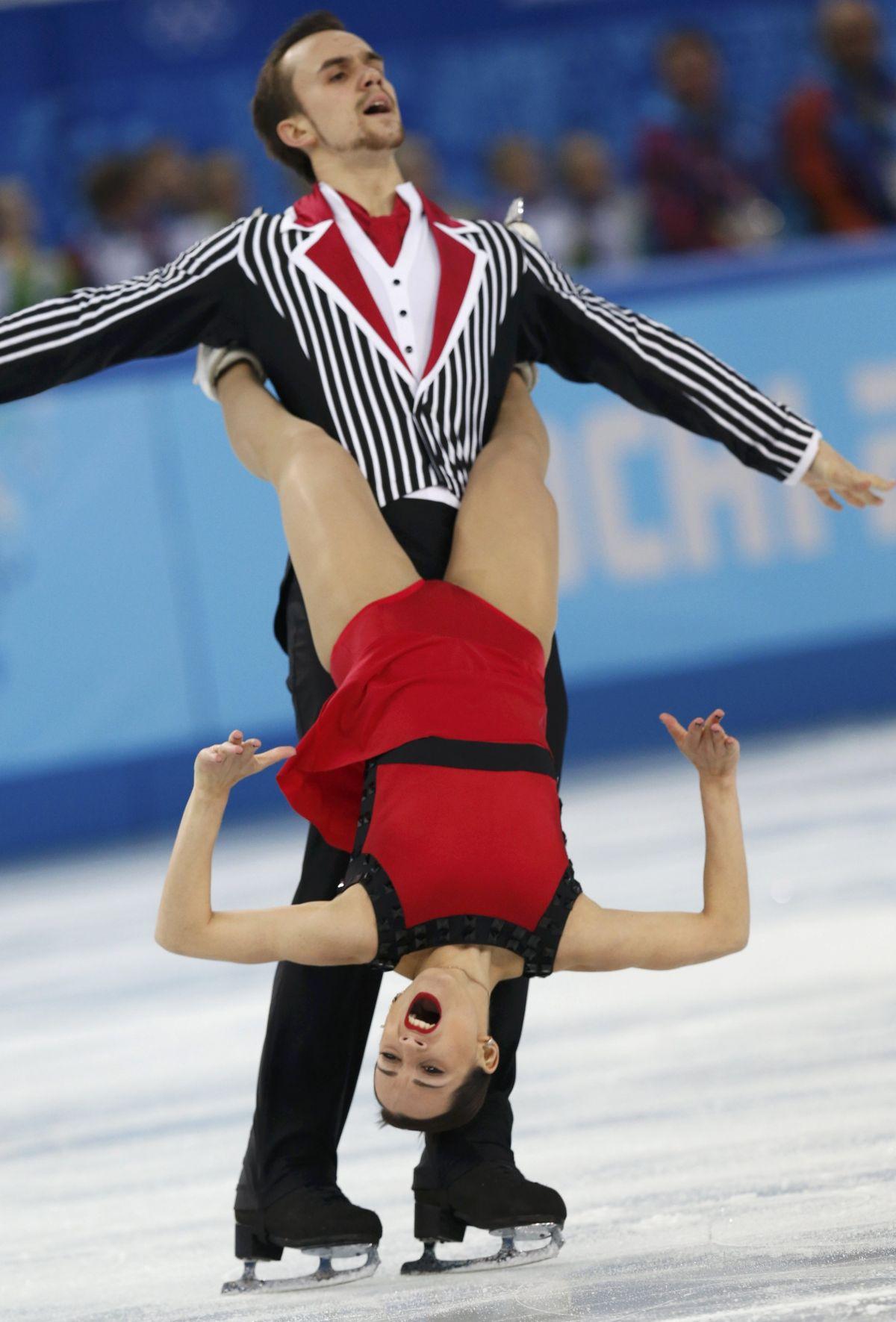 KSENIA STOLBOVA and Fyodor Klimov at 2014 Winter Olympics in Sochi
