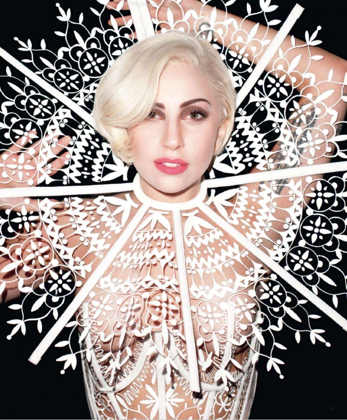 LADY GAGA in Harper'... Lady Gaga