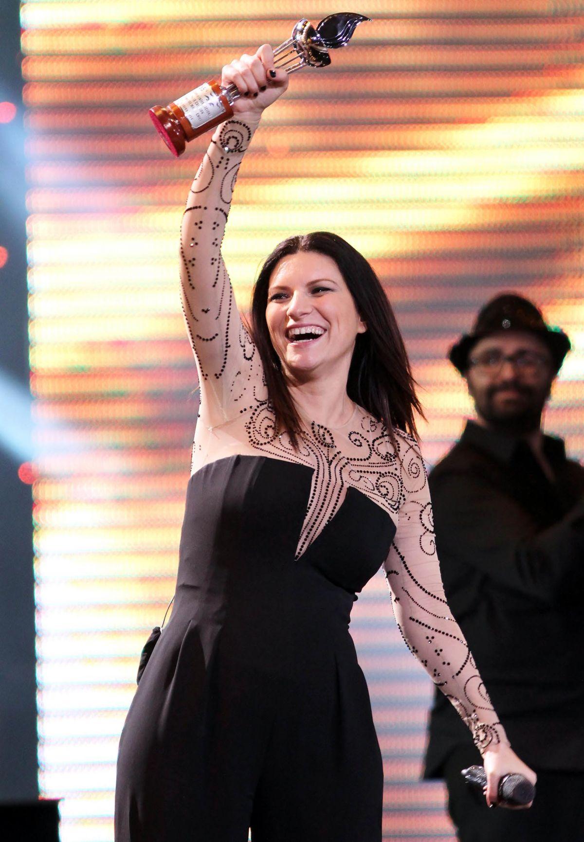 LAURA PAUSINI Performs at Vina Del Mar Festival in Chile